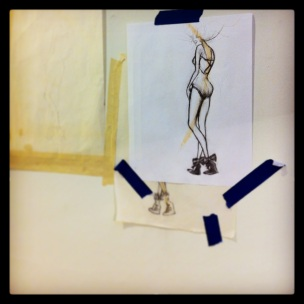 Playing about with a new ideas and an old love: fashion plates. Ok, the evolved version from this