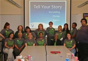 We trained to help reduce the stigma of mental illness by sharing our stories and learning how to teach others to share theirs. Together our voices will help #breakthestigma.