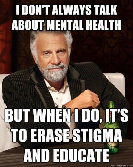 Even The Most Interesting Man in the World speaks to erase stigma.